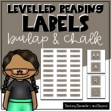 Burlap & Chalk Levelled Library Labels