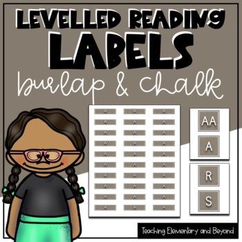 Burlap & Chalk Levelled Library Labels
