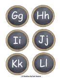 Burlap & Chalkboard Alphabet & Numbers to 26