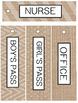 Burlap & Chalkboard Classroom Decor - EDITABLE