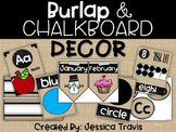 Burlap & Chalkboard Decor