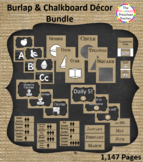 Burlap & Chalkboard Decor Bundle 1,147 pages!