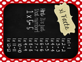 Burlap Chalkboard Multiplication Fact Posters