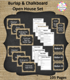 Burlap & Chalkboard Open House Bundle
