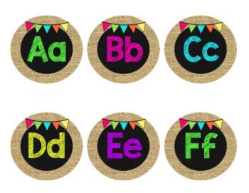 Burlap & Chalkboard Theme Classroom Decor Bundle