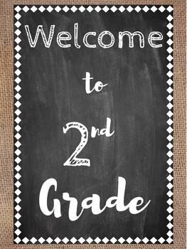 Welcome Signs (Burlap & Chalkboard)