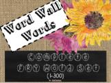 Burlap/Chalkboard Word Wall (1-300)