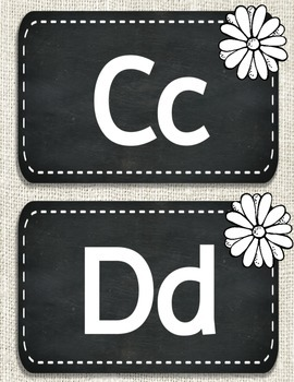 Burlap Chalkboard Word Wall Headers