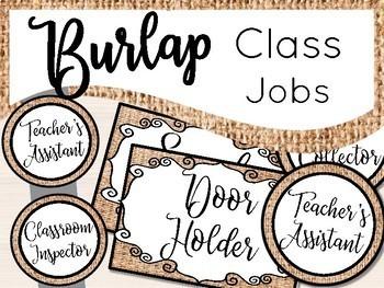 Burlap Class Jobs