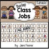 Burlap Class Jobs - Editable