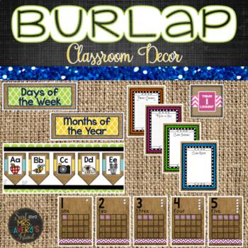 Back to School Burlap Classroom Bundle