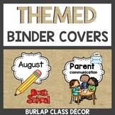 Burlap Classroom Decor Binder Covers