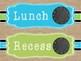 Burlap Classroom Decor - Blue and Green