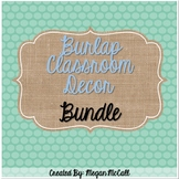 Burlap Classroom Decor Bundle