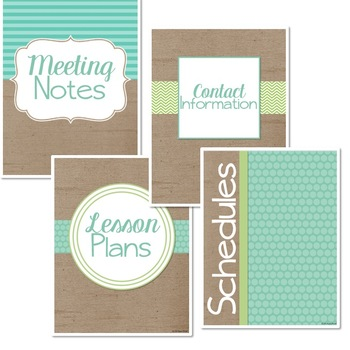 Burlap Classroom Decor: Editable Binder Covers and Dividers