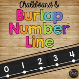 Burlap Classroom Decor Number Line {-100 to 250}