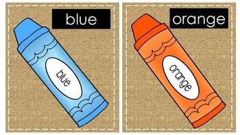 Burlap Classroom Decor Pack