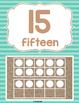 Burlap Classroom Decoration: 10 Frame Cards