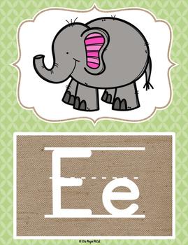 Burlap Classroom Decoration: Alphabet Posters