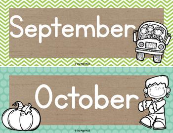 Burlap Classroom Decoration: Calendar Cards