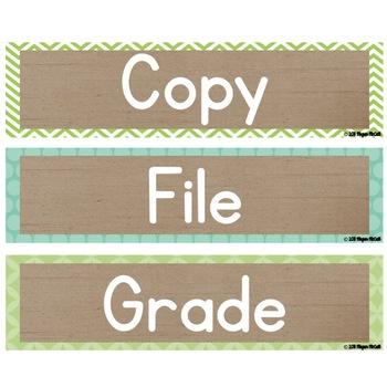 Burlap Classroom Decoration: Editable Sterilite Drawer Labels