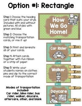 Burlap Classroom Decoration: How We Go Home