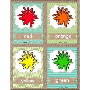 Burlap Classroom Decoration: Quarter Page Color Poster Freebie