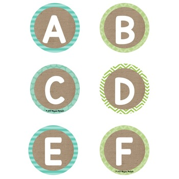 Burlap Classroom Decoration: Word Wall Letter Cards (3 formats)