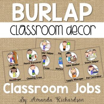 Burlap Classroom Jobs