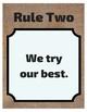 FREEBIE Classroom Rules (Burlap)