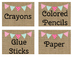 Burlap Classroom Supply Labels