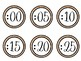 Burlap Clock Labels