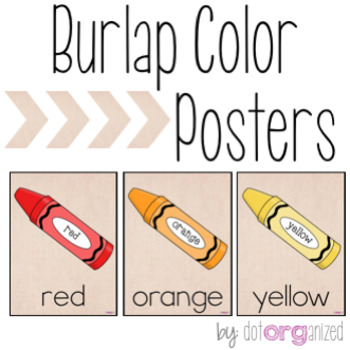 Burlap Color Posters