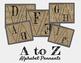 Burlap Alphabet Banner/Pennants - A TO Z! & 12 Chalkboard Labels!