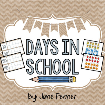 Burlap Days in School Ten Frames Chart