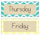 Burlap Days of the Week