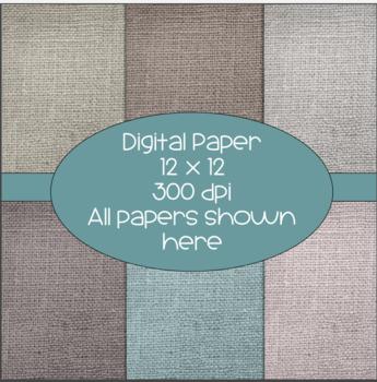 Burlap Digital  Papers  - 300 dpi 12x12