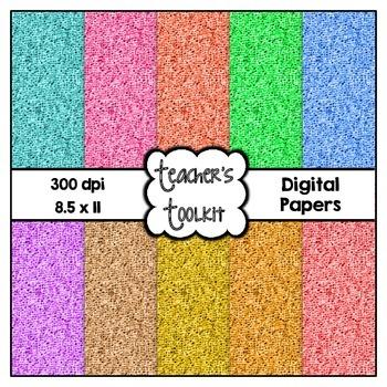 Burlap Digital Papers {8.5 x 11} Clip Art CU OK