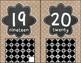 Burlap Dots Number Posters