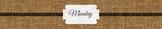 Burlap Drawer Label