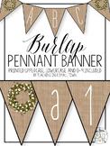 Burlap Farmhouse Pennant Banner in Print