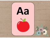 Burlap & Flower Alphabet Posters