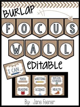 Burlap Focus Wall - Editable