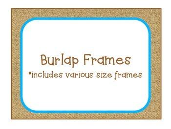 Burlap Frames - Turquoise