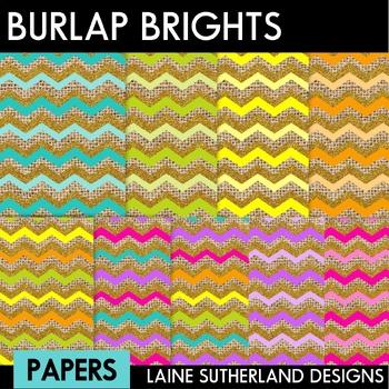 Burlap & Glitter Brights Digital Paper