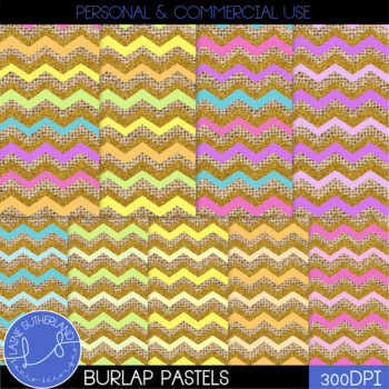 Burlap & Glitter Pastels Digital paper