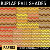 Burlap & Glitter Shades of Fall Digital paper
