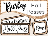 Burlap Hall Passes