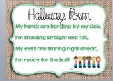 Burlap Hallway Poem