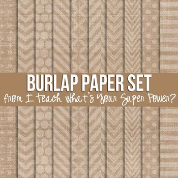 Digital Papers and Frames Burlap Jumbo Set